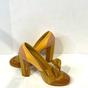 NIB Miu Miu hi heeled  Saddle style shoe